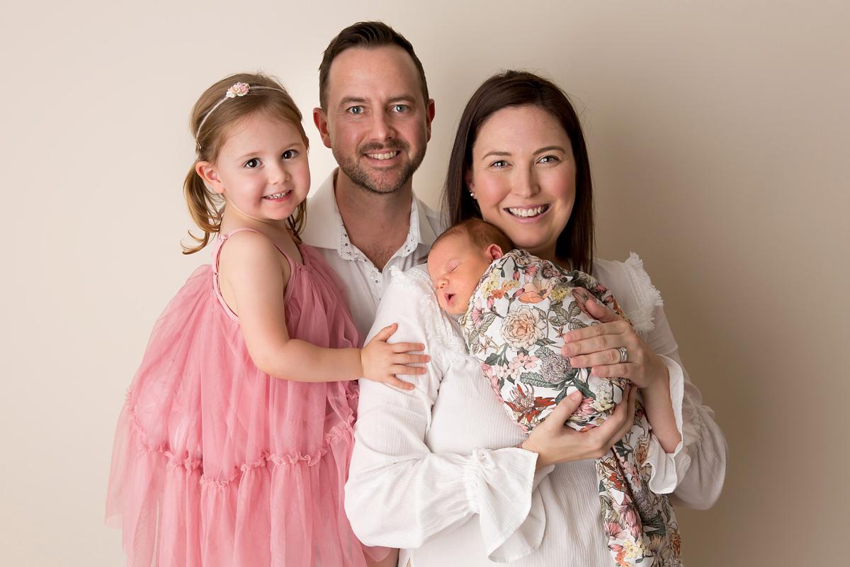 family photos with newborn baby brisbane
