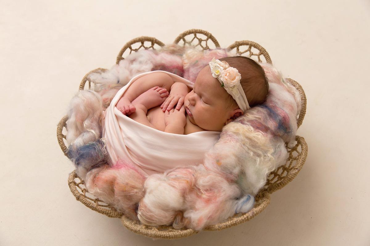 pastel pink beautiful newborn photo