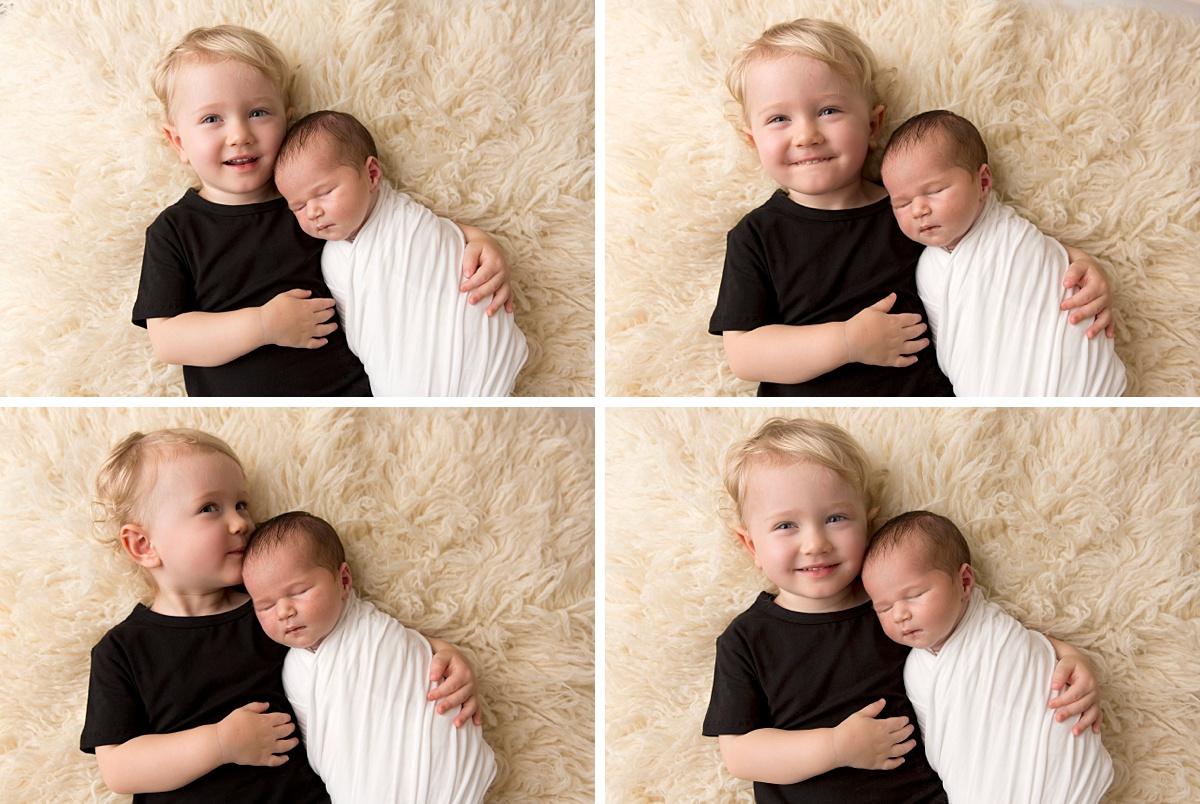 sibling with newborn photo Brisbane