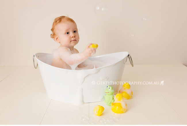 Baby bath and bubbles