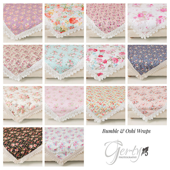 Bumble & Oshi floral and lace wraps
