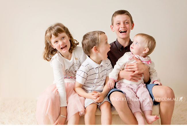 Best family photo ever - four kids