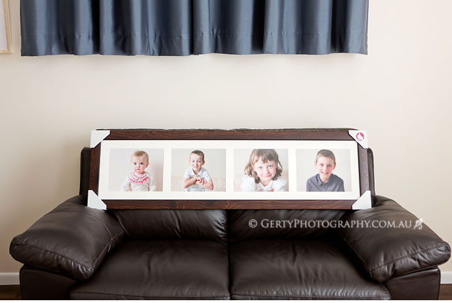 Family photos custom framing