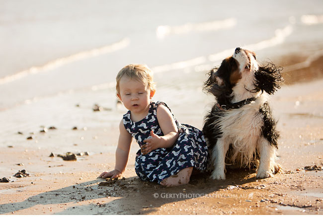 baby and dog photography brisbane