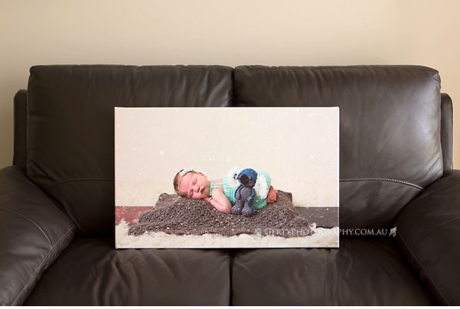 newborn canvas print