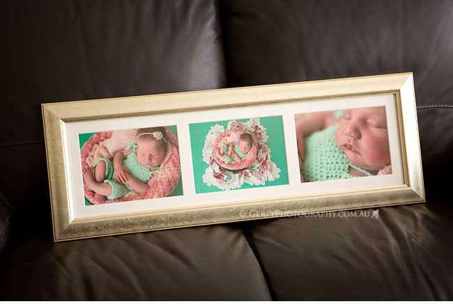 newborn photography custom framing