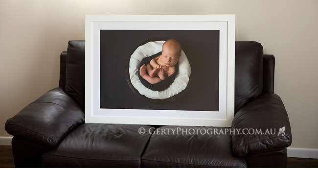 big framed print newborn photos