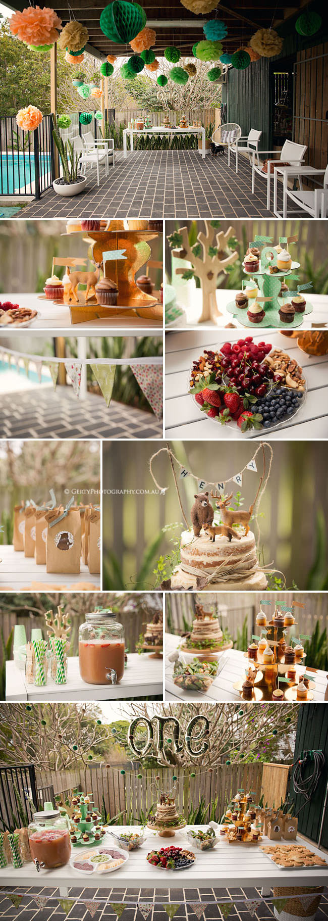 first birthday party photos woodland theme