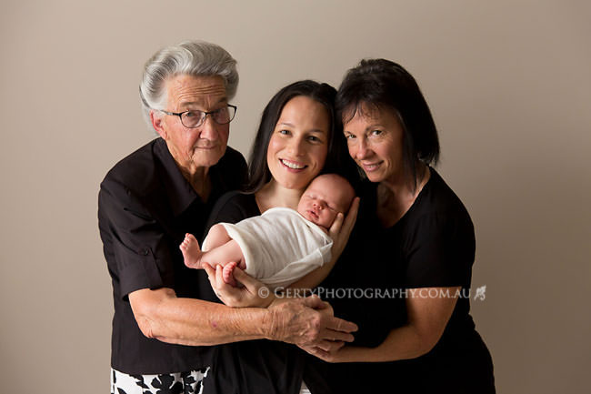 newborn photography four generations
