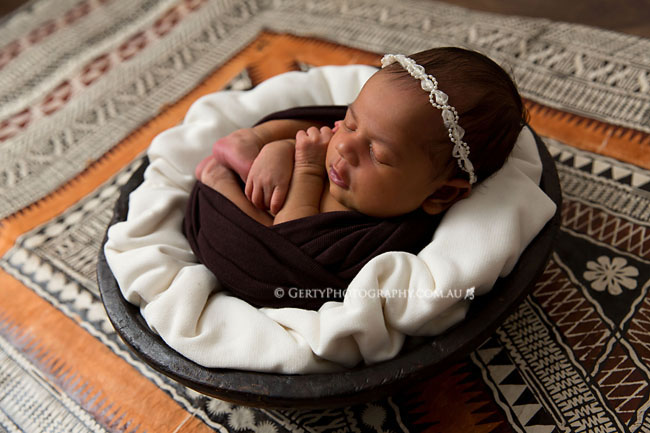 fiji masi mat newborn photo