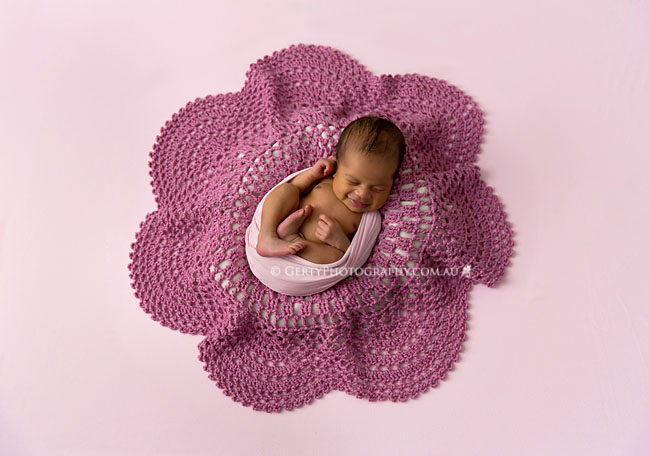 crochet flower newborn images
