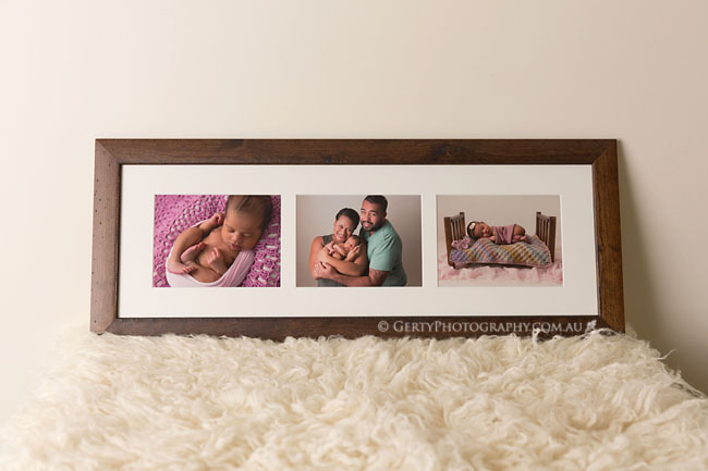 custom framing newborn images