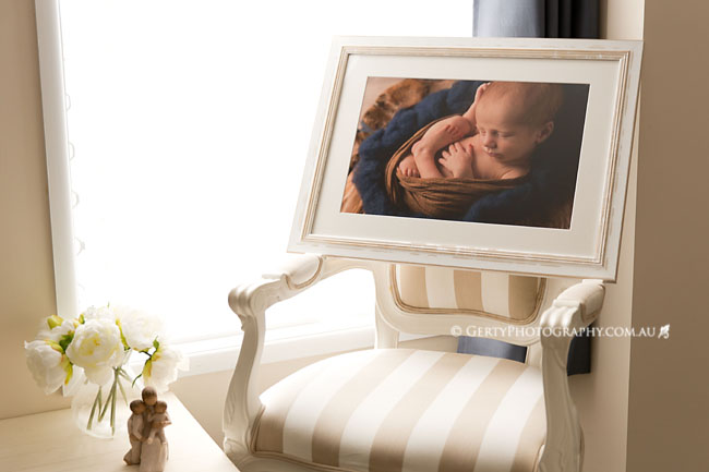 custom framed newborn photos brisbane