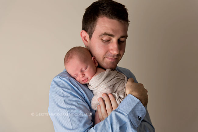 father and son newborn images