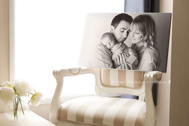 canvas print newborn photographer brisbane