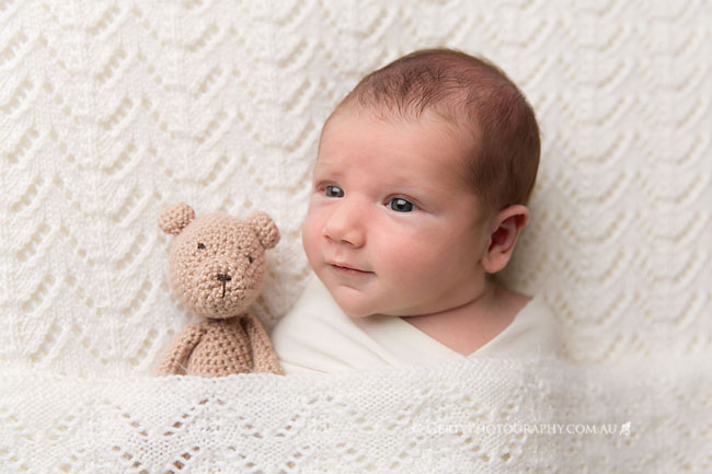 hand knitted baby shawl cream brisbane newborn photos