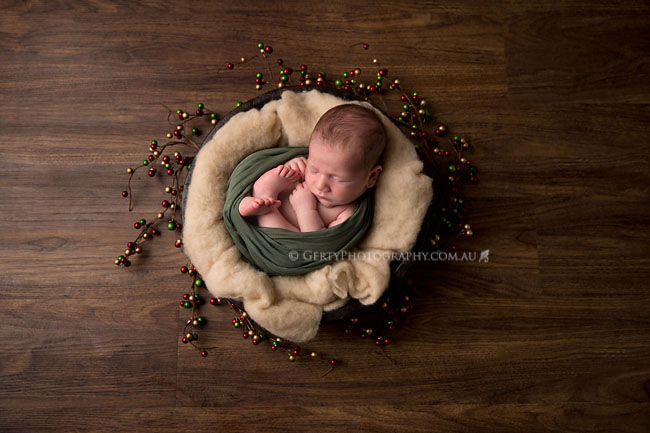 christmas baby boy brisbane newborn photos