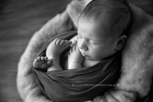 christmas baby boy brisbane newborn photographer