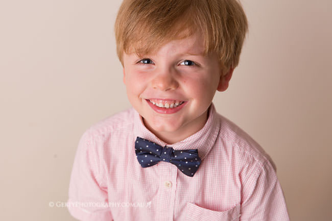five year old boy studio photo
