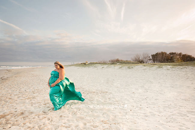 beach maternity & studio newborn photos