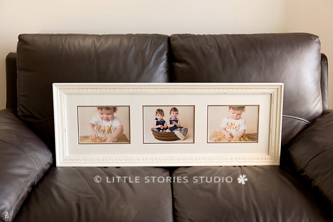 custom framing triple baby