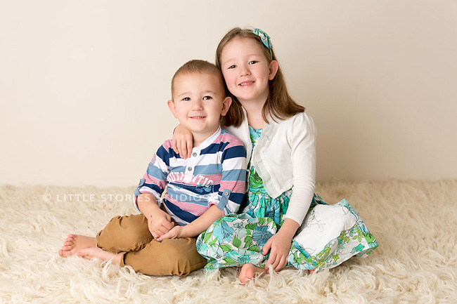 sibling studio portraits