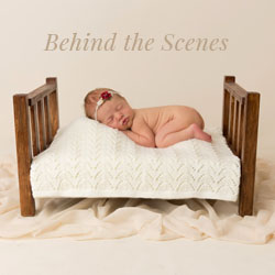 Behind the scenes - timelapse newborn session - brisbane newborn studio