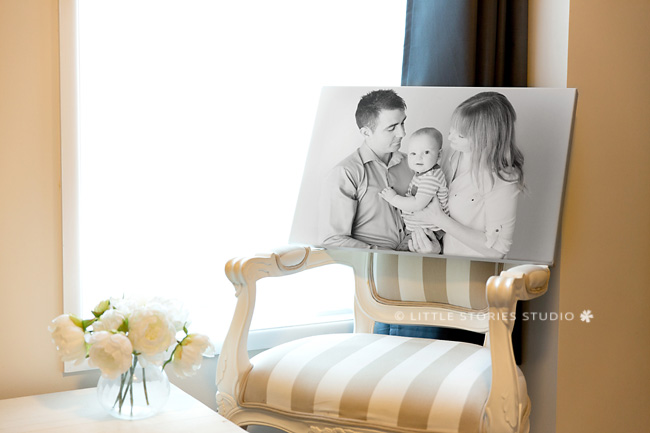 first birthday family photos canvas print