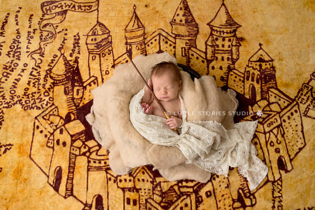 Harry Potter Newborn Photos marauders map mischief managed