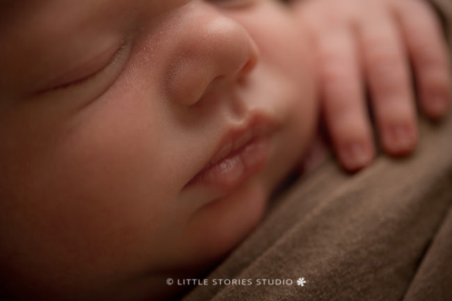 caramel newborn photo