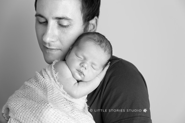 father and son brisbane newborn photography