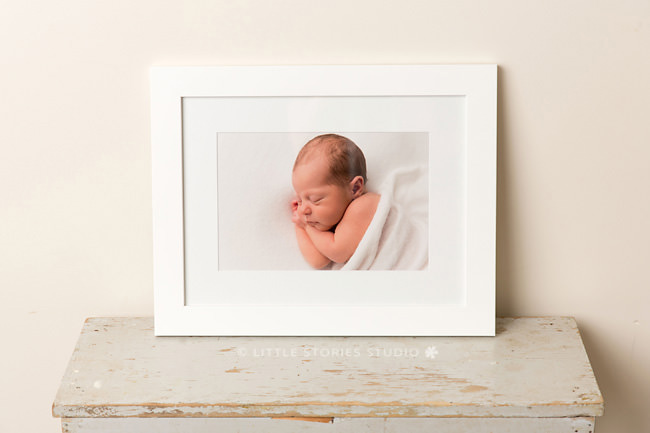 newborn photographer brisbane print frame custom white