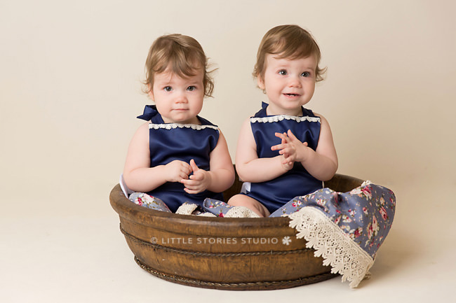 baby girl twins age one