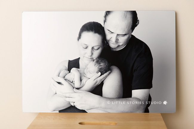 metal print newborn photography brisbane