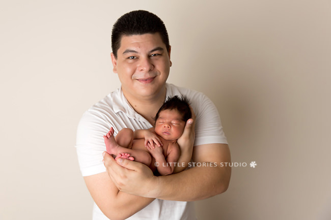 godfather and godson newborn portrait