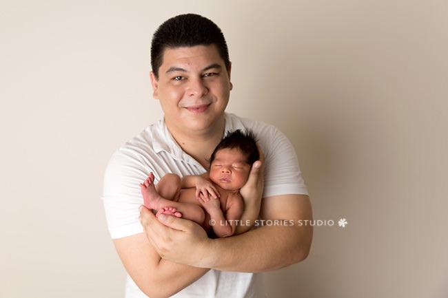 godfather and godson newborn portrait