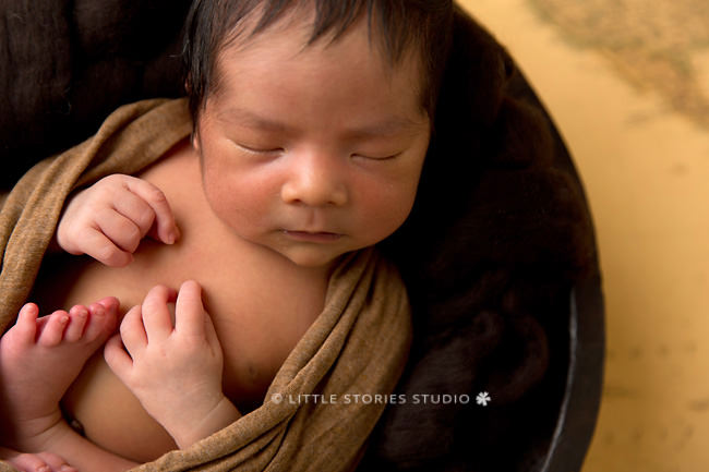 travel themed newborn photos
