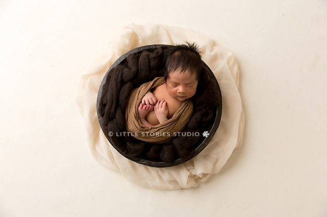 cream caramel and brown newborn photos