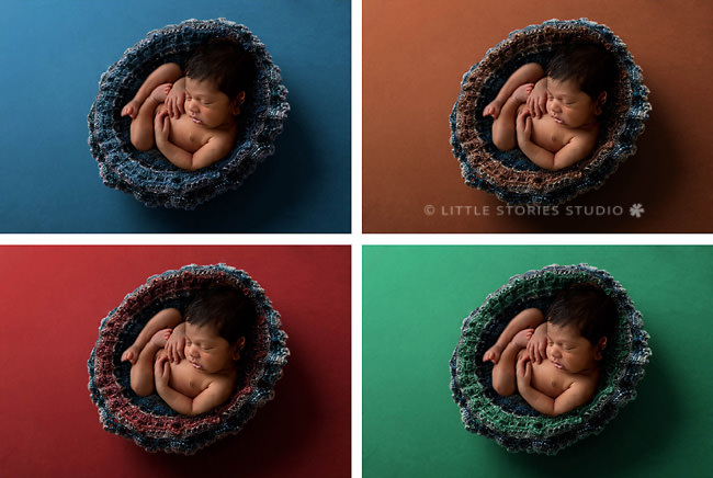 colourful newborn photos brisbane