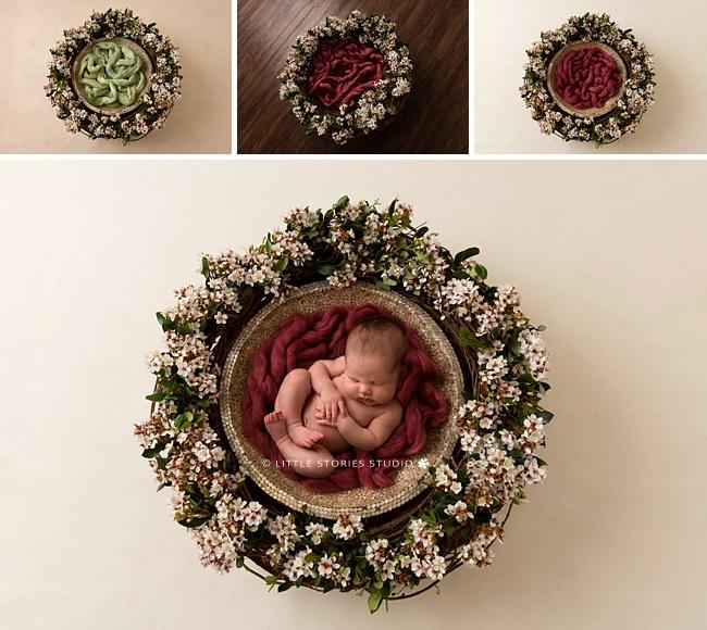digital composite newborn photos