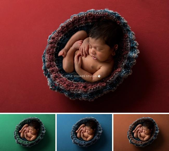 colour change digital image newborn crochet blanket