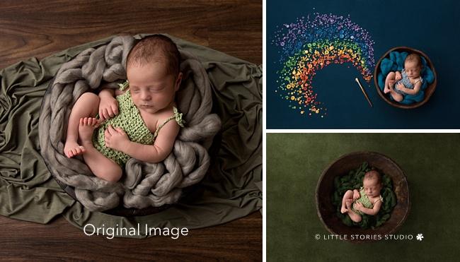 rainbow baby newborn digital composite art
