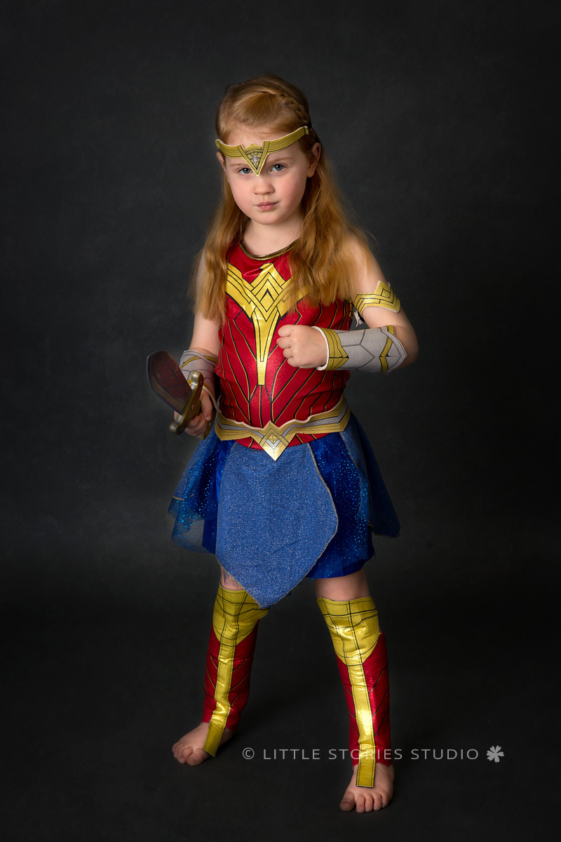 brisbane kids superhero photos wonder woman