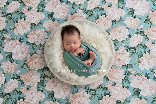 floral newborn photo background