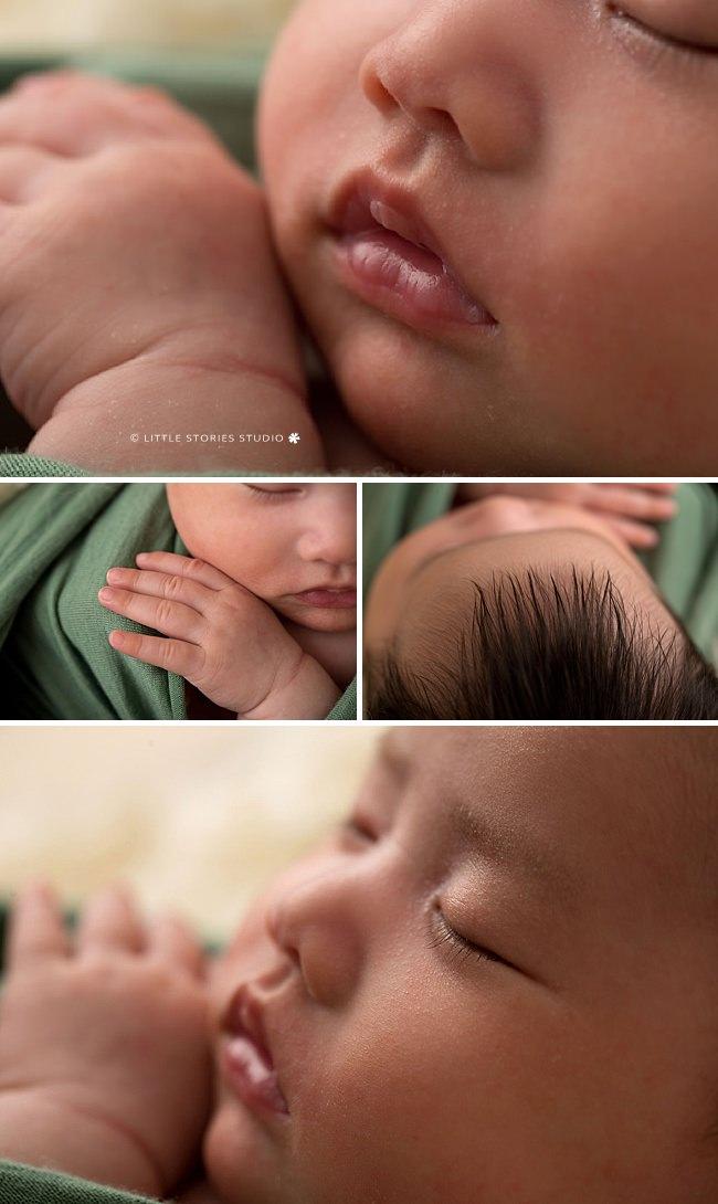 macro newborn photos eyes hand hair lips