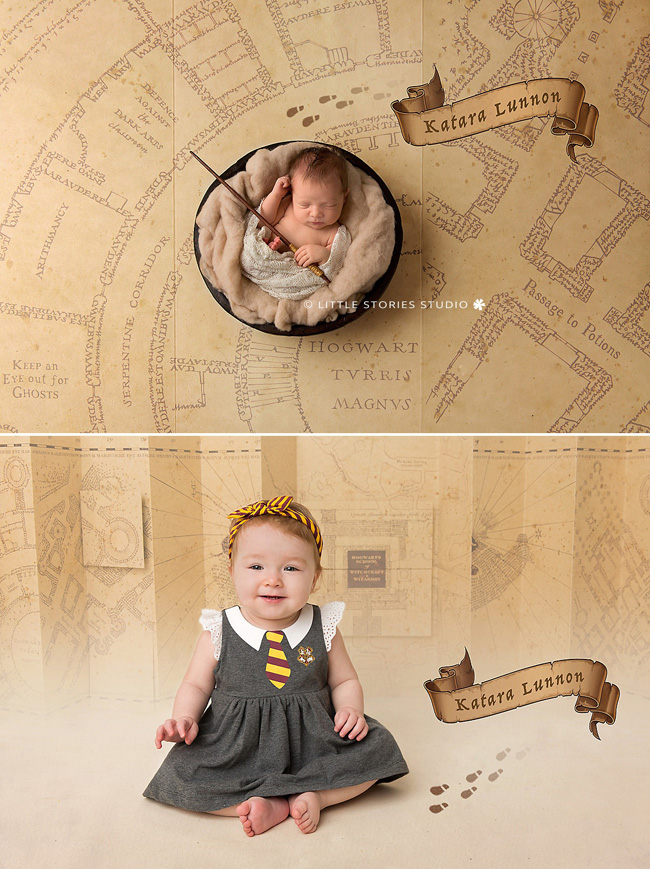 harry potter theme newborn and first birthday photos brisbane
