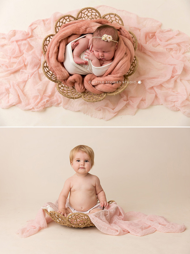 photos from newborn to age one