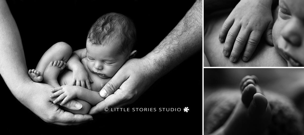 black and white simple newborn photography brisbane