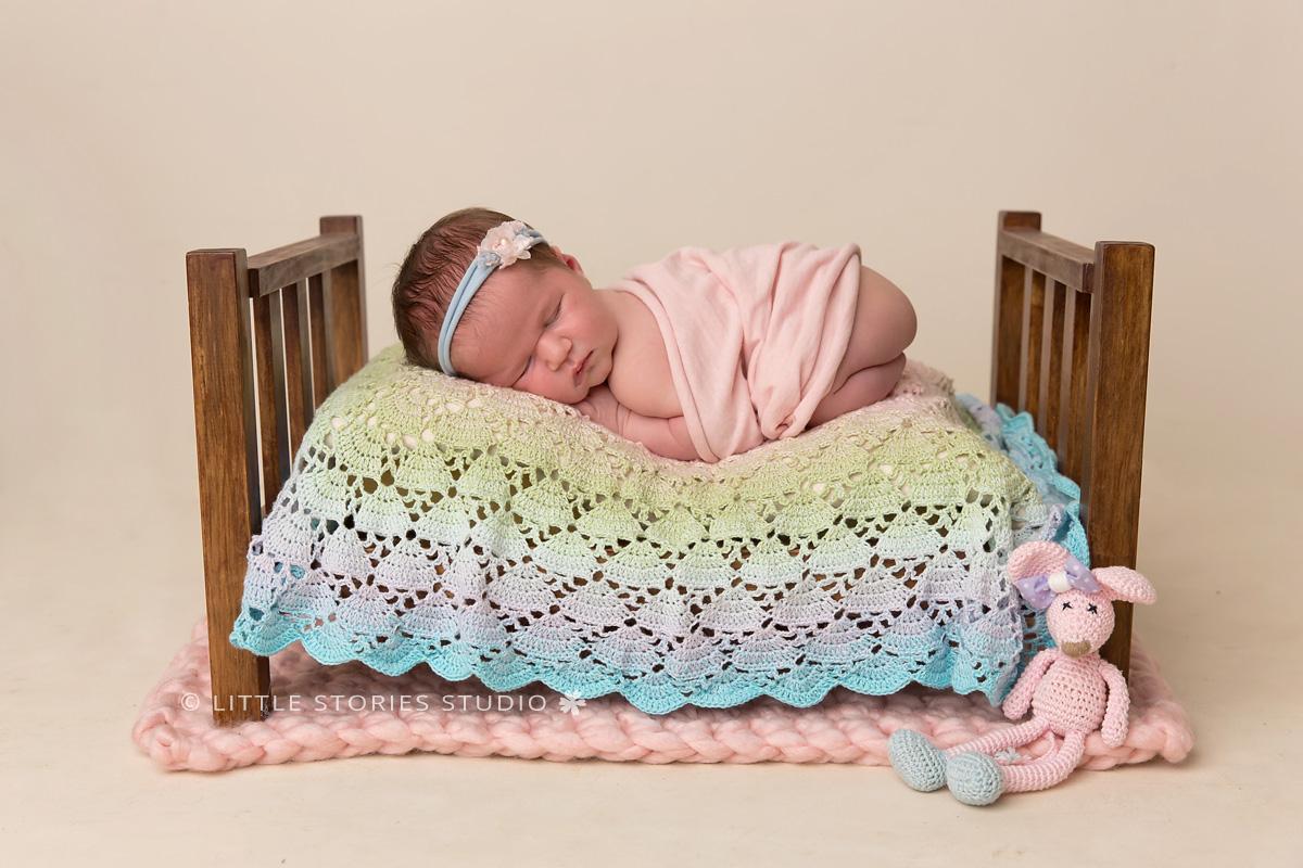 pretty pastels brisbane newborn baby photographer