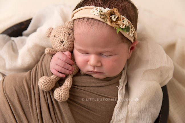 newborn and amigurumi photo